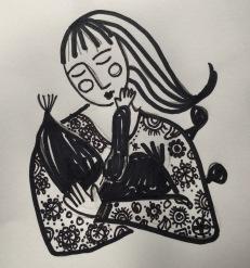soul grdening journal illustration