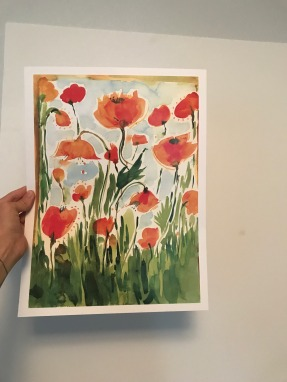 Garden Poppies Poster, Light